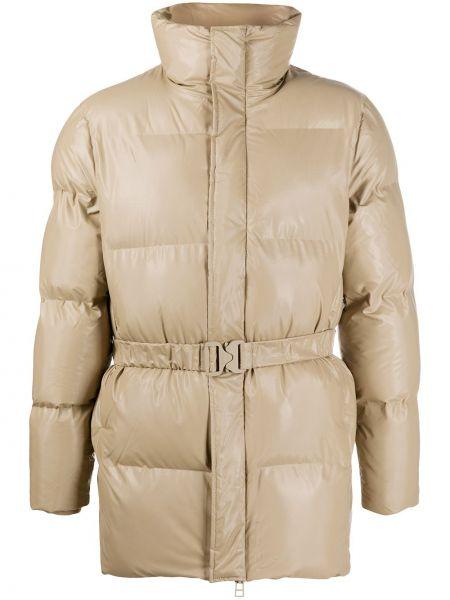 Нейлоновая куртка на молнии с поясом с воротником Rains