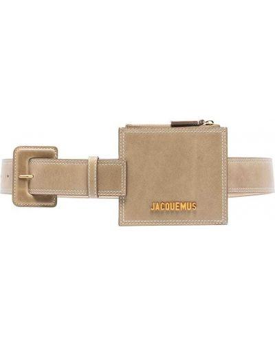 Желтая кожаная поясная сумка на молнии Jacquemus