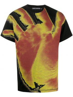 Черная прямая рубашка с короткими рукавами United Standard