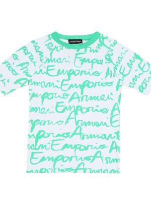 Strój kąpielowy z logo Emporio Armani Kids