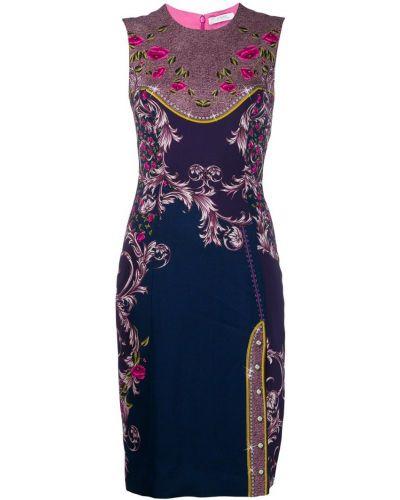 Платье в цветочный принт - синее Versace Collection