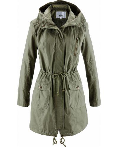 Куртка зеленая оливковый Bonprix