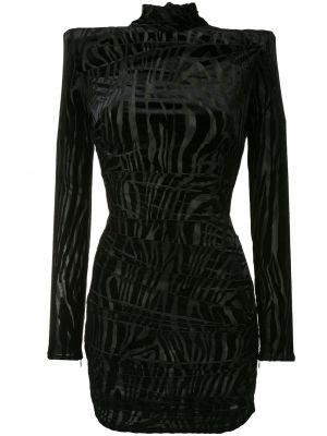 Облегающее черное платье мини с воротником Alex Perry