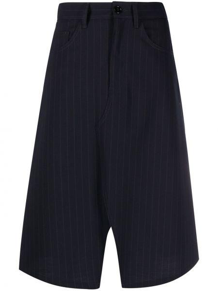 Czarny z wysokim stanem asymetryczny spódnica z kieszeniami Mm6 Maison Margiela
