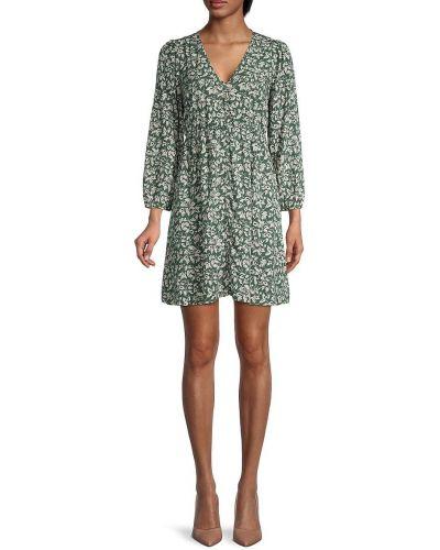 Зеленое купальное платье для полных в цветочный принт Madewell