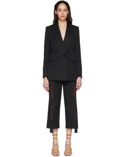 Пиджак черный в полоску Stella Mccartney