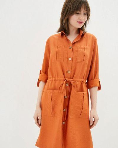 Оранжевое платье-рубашка German Volf