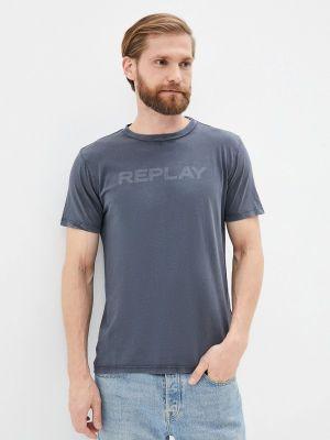 Серая футболка осенняя Replay