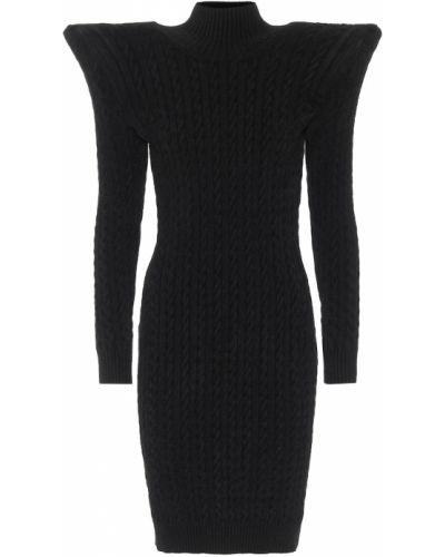 Dom czarny sukienka z wiskozy Balenciaga