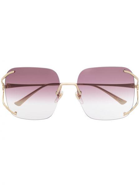 Oprawka do okularów metal plac złoto przeoczenie Gucci