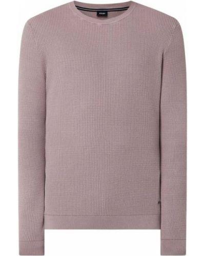 Prążkowany różowy sweter bawełniany Joop! Collection