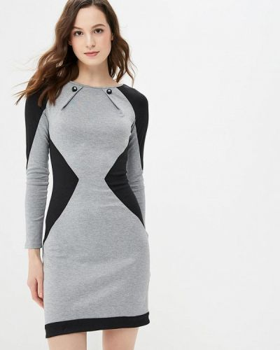 Платье серое осеннее Gepur