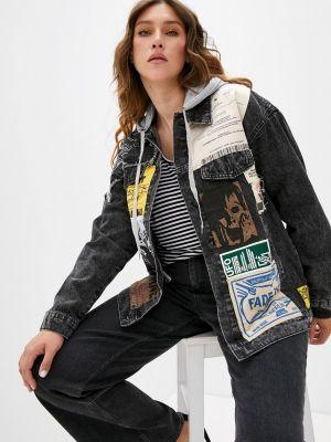 Черная джинсовая куртка Grafinia