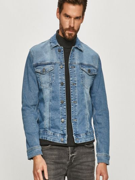Хлопковая с рукавами куртка с манжетами Only & Sons