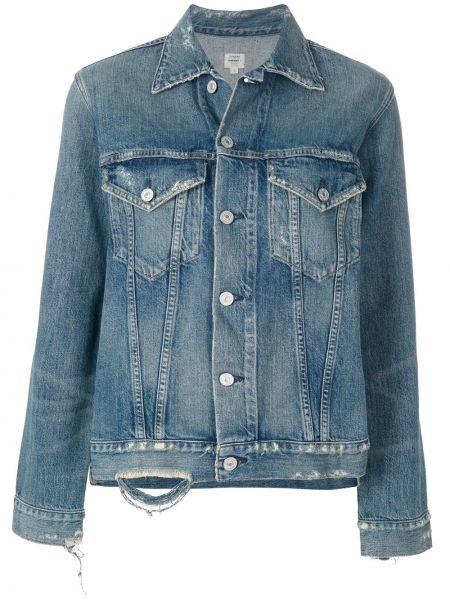 Хлопковая синяя джинсовая куртка Citizens Of Humanity