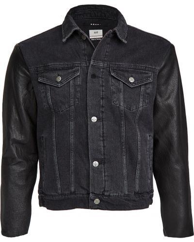 Стеганая синяя кожаная джинсовая куртка Ksubi