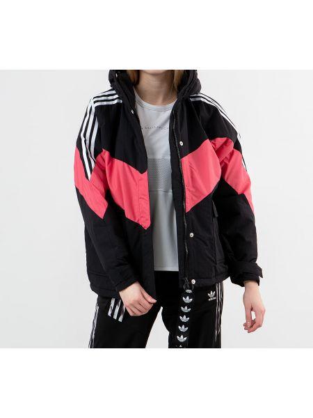 Зимняя куртка черная розовая Adidas Originals