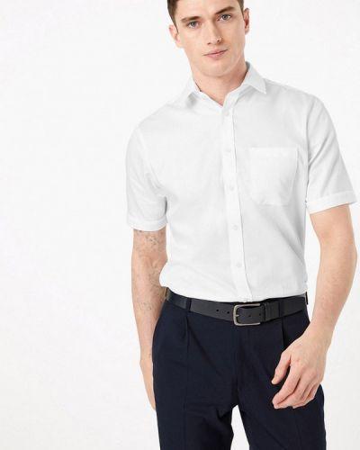 Белая рубашка с короткими рукавами Marks & Spencer