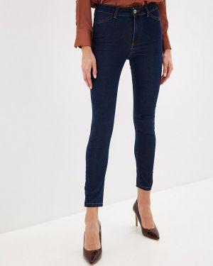 Синие джинсы-скинни с пайетками Calzedonia