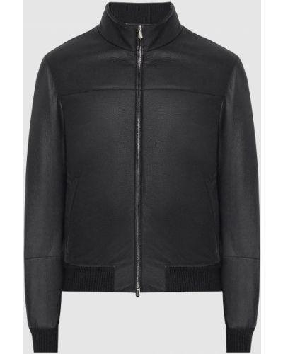 Кожаная куртка - черная Enrico Mandelli