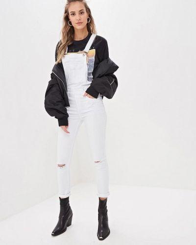 Белый джинсовый комбинезон G&g