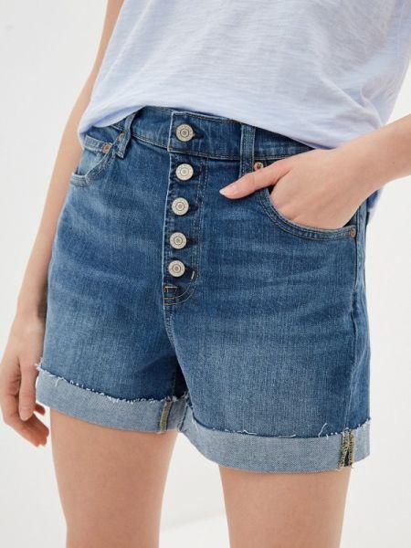 Белые джинсовые шорты со стразами Gap
