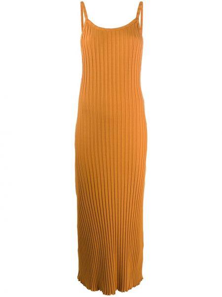 Sukienka midi bez rękawów - pomarańczowa Simon Miller
