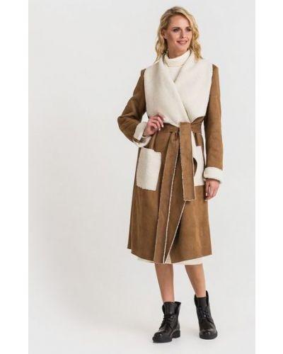 Пальто из овчины - белое Vovk