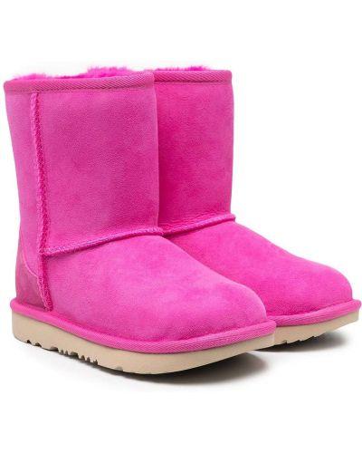 Розовые угги из овчины с подкладкой Ugg Kids