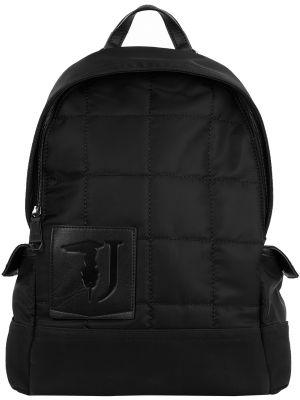 Рюкзак черный на молнии Trussardi Jeans