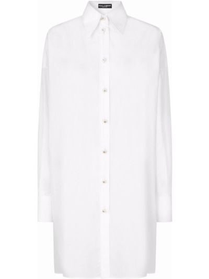 Белая кружевная рубашка Dolce & Gabbana