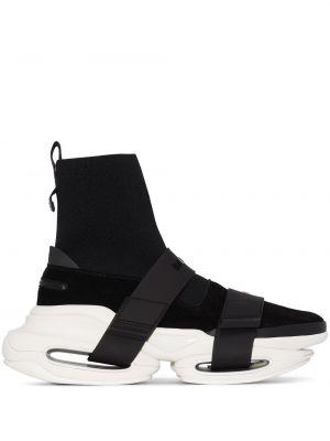 Черные высокие кроссовки Balmain
