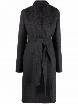 Серое пальто с карманами Givenchy
