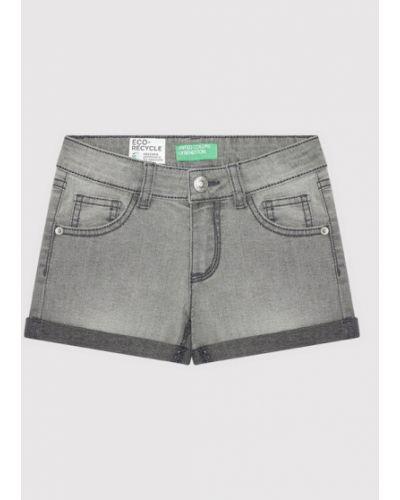Szorty jeansowe - szare United Colors Of Benetton