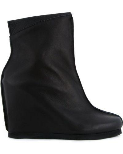 Черные кожаные сапоги Peter Non