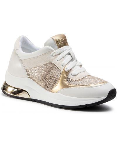 Białe sneakersy skorzane na co dzień Liu Jo