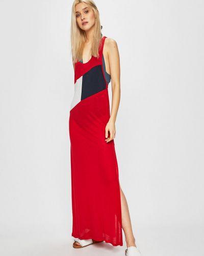 Повседневное платье однотонное с декольте Tommy Hilfiger