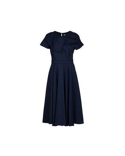 Платье из вискозы синее Vuall