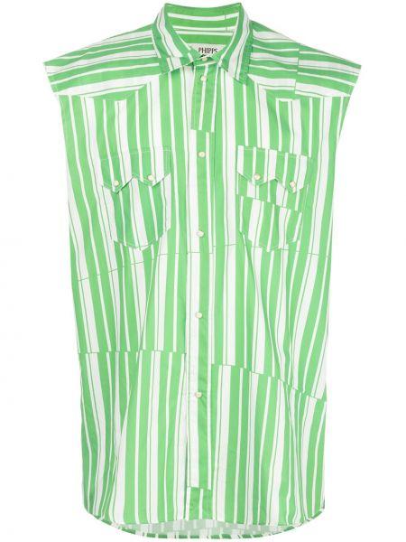 Классическая классическая рубашка с воротником с заплатками без рукавов Phipps