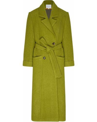 Зеленое пальто с поясом Lesyanebo