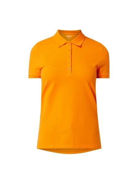 T-shirt bawełniana - pomarańczowa Montego
