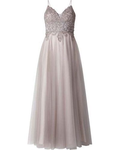 Sukienka wieczorowa rozkloszowana koronkowa tiulowa Laona
