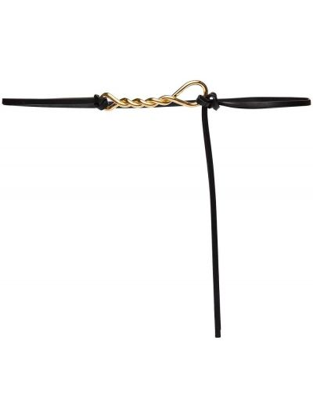 Черный ремень металлический с пряжкой с поясом Bottega Veneta