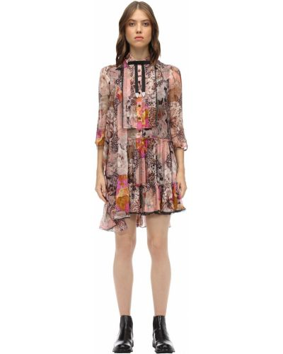 Шифоновое платье - розовое Coach