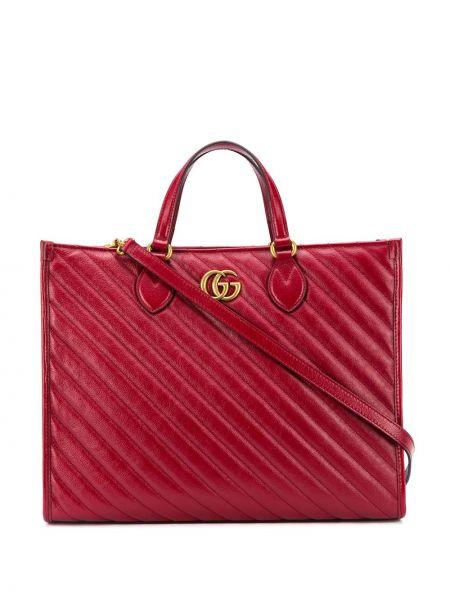 Z paskiem torba na ramię z prawdziwej skóry złoto Gucci