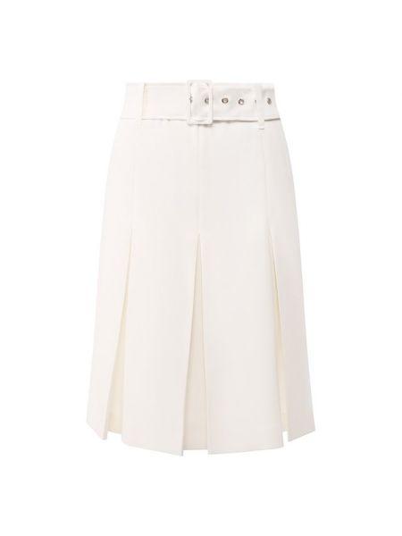Белая юбка из вискозы с подкладкой Filles A Papa