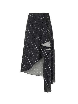 Темно-синяя асимметричная юбка миди Monse