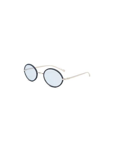 Комбинированные синие солнцезащитные очки металлические Chanel