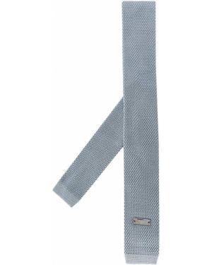 Синий шелковый галстук квадратный Emporio Armani Kids