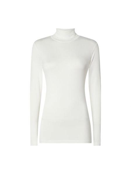 Prążkowany biały sweter z wiskozy Kaffe